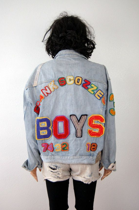 Frank Scozzese Denim Jacket 80s POP ART Vintage by poetryforjane,  425.00 8217d2fd50