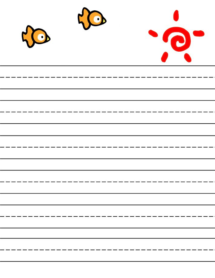 free printable stationery for kids, free lined kids writing paper - free handwriting paper template