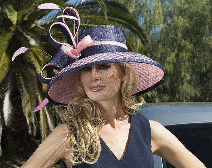 ce80843633f 2018 collection. Kentucky Derby hat. Derby hat. Royal Ascot hat. couture hat.  Designer hat. Wedding hat Navy hat. Pink hat. women hat