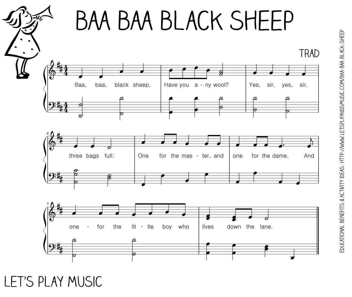Do Re Mi Lyrics Sheet Music: Baa Baa Black Sheep: First Nursery Rhymes