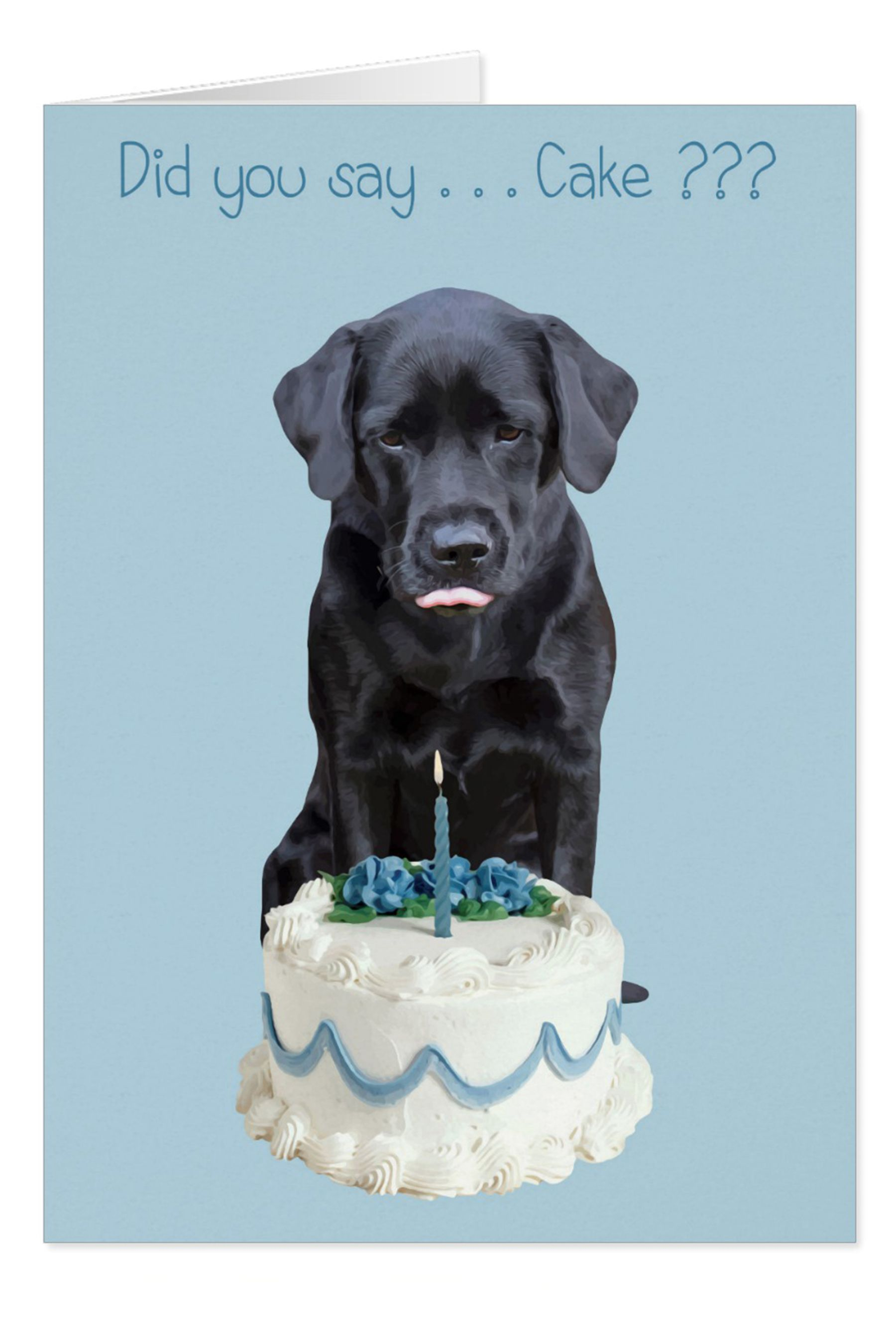 Enjoyable Black Lab All Occasion Card Dog Cake Birthday Zazzle Com With Birthday Cards Printable Giouspongecafe Filternl