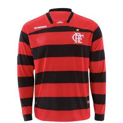 Camisa de Futebol Oficial Flamengo 1 s n 2011 Olympikus Manga Longa PT VMH ae0be186026ae