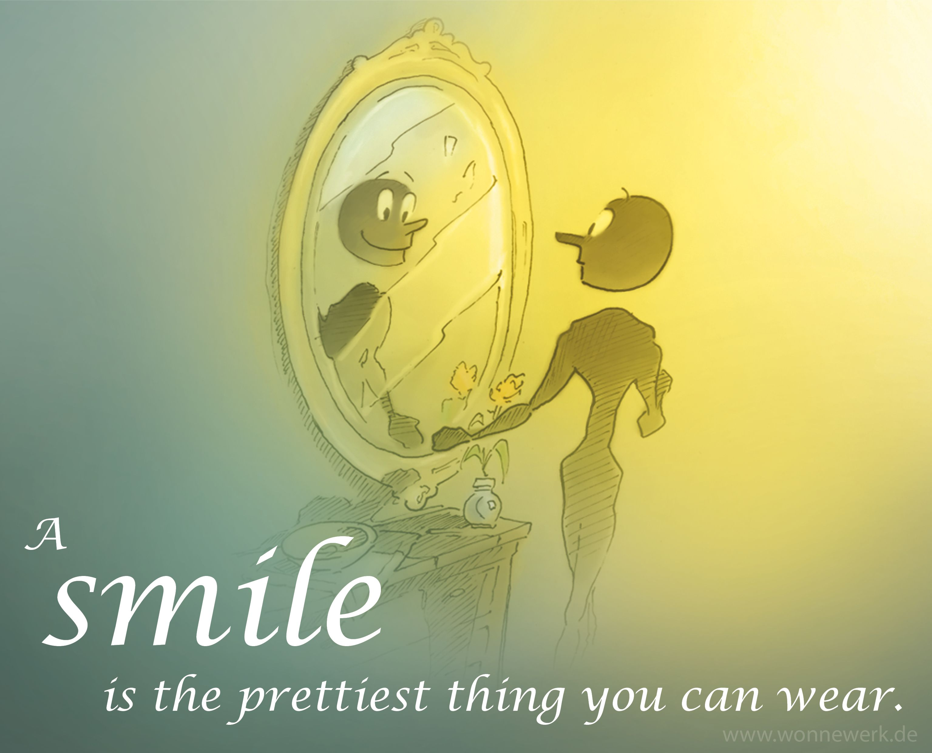 A Smile Is The Prettiest Thing You Can Wear. Zitate Lächeln Leben Glücklich  Sein Life