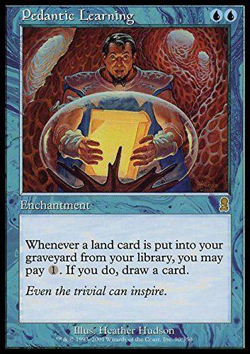 pedantic learning  magic cards magic the gathering card