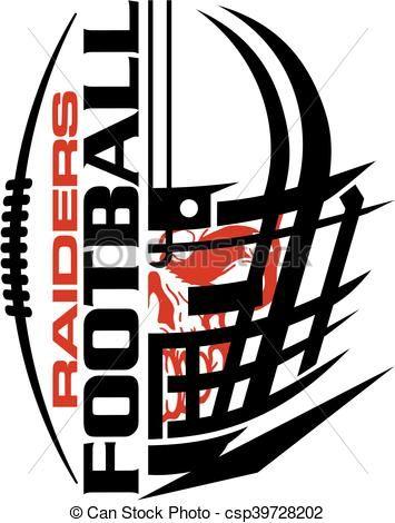 vector raiders football stock illustration royalty free rh pinterest com Oakland Raiders Screensavers Oakland Raiders New Logo