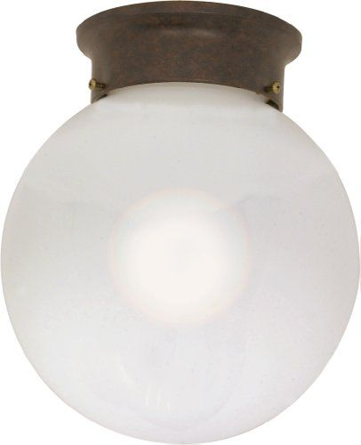 Kids closet - Nuvo Lighting 60/433 One Light Flush Mount White Ball, Old Bronze, 8-Inch Nuvo Lighting http://www.amazon.com/dp/B000VYGZZO/ref=cm_sw_r_pi_dp_Qboqwb0MPXYZ4