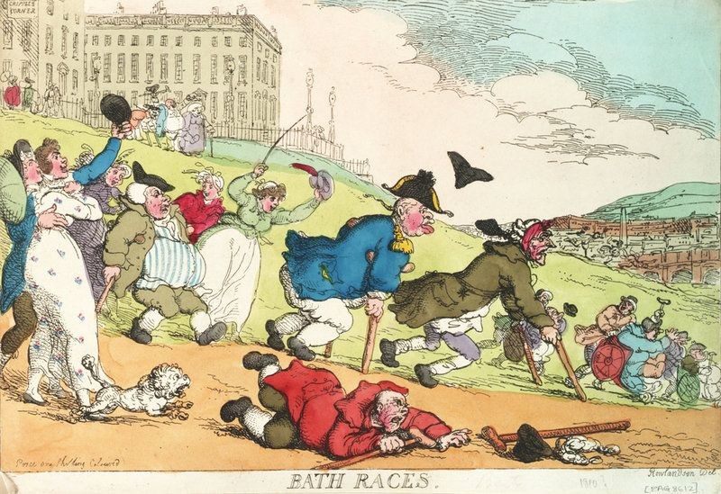 Bath Races - Thomas Rowlandson - Royal Museums Greenwich Prints ...