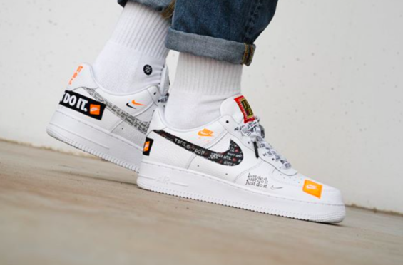 Release Reminder Nike Air Force 1 Low Premium Just Do It White Kicksonfire Com Nike Nike Air Force Air Force Shoes