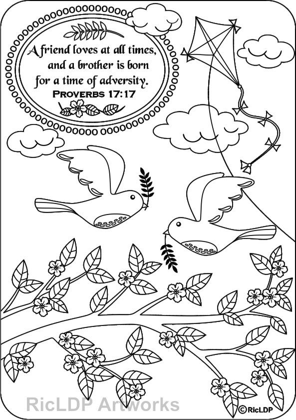 15 Printable Bible Verse Coloring Pages | Pinterest | Bible, Pdf and ...