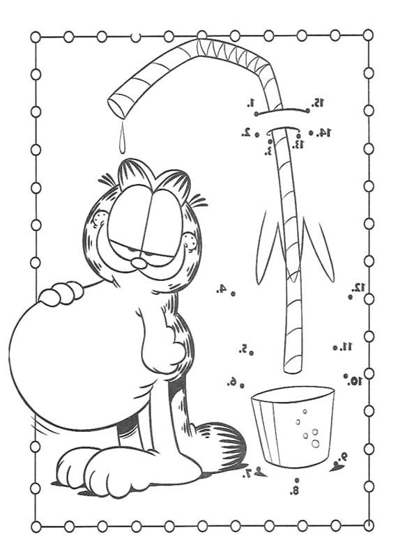 Stomach Bloating Garfield Coloring Page | Garfield | Pinterest