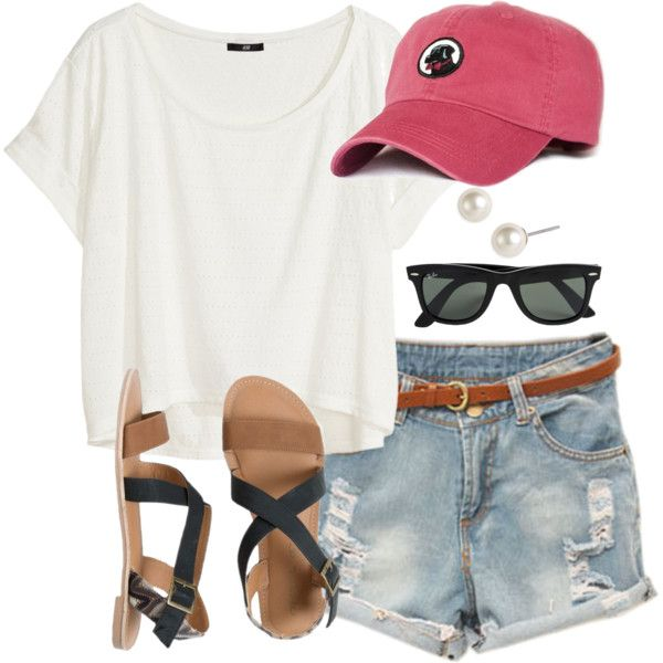 A Fashion Look From April  Featuring Hm T Shirts Ipanema Sandals And Givenchy Earrings Browse And Shop Related Looks
