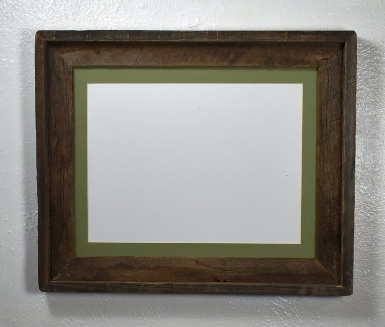 Rustic Wood Picture Frame 9x12 Sage Green Mat 8x10 Or 8 5x11 Opening In 2020 Picture On Wood Wood Picture Frames Rustic Wood