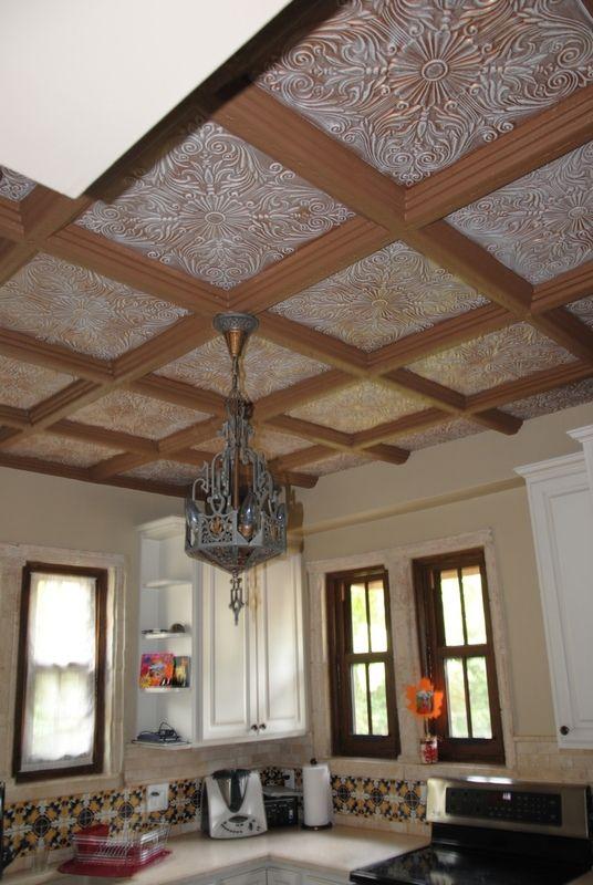 Spanish Silver Styrofoam Ceiling Tile