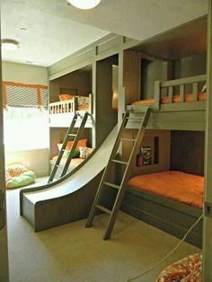 Elegant ... Bunk Beds Built Into Wall. Fun Bedroom Built Ins For Kids   Google  Search