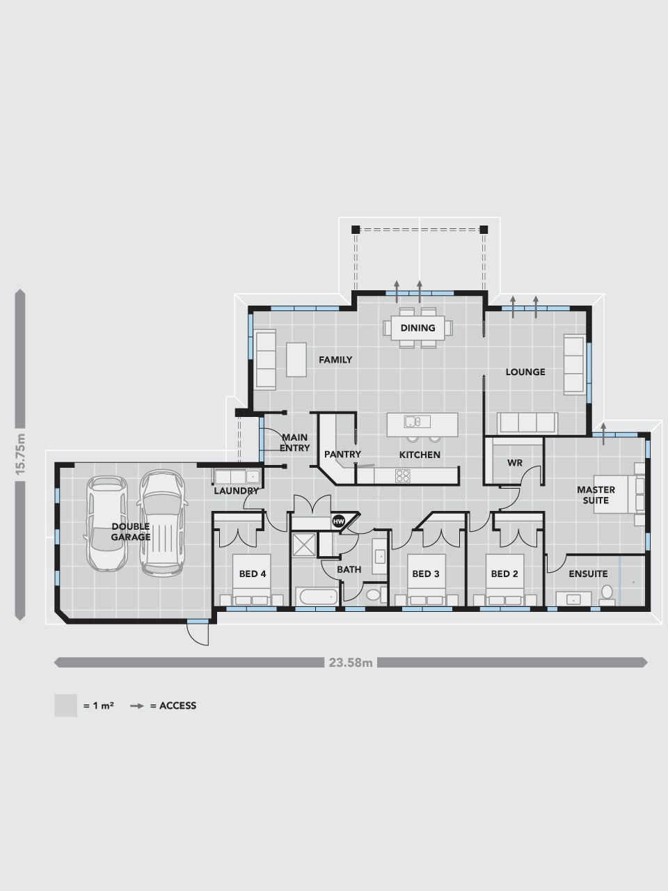 The Platinum Homes  Millwater Represents An Evolution In Four Bedroom Home  Design. Sharing