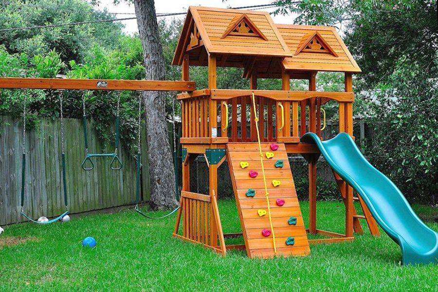 How To Build Outdoor Wooden Playground For Kids Equipment