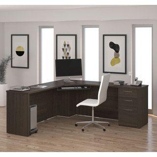 Office Desks For Bestar Emby Corner Desk Get Free Delivery At Your