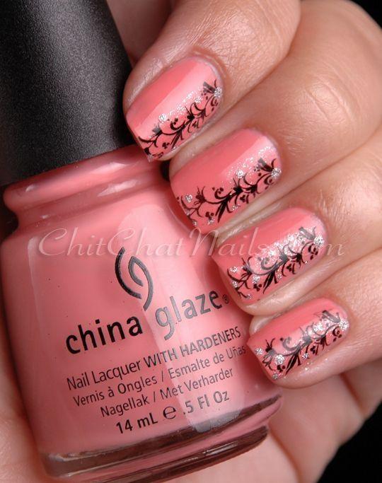 Coral nail design - Coral Nail Design Outer Beauty Pinterest Coral Nail Designs