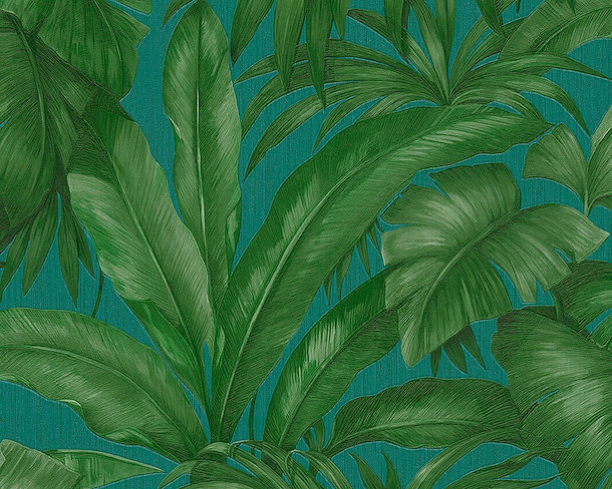 Eurowalls Wallcoverings Versace Wallpaper New Banana Leaf Wallpaper