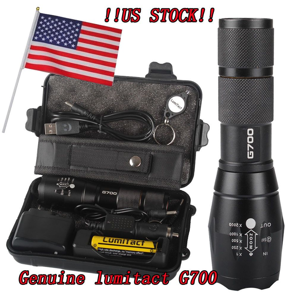 20000lm CREE LED tactical Shadowhawk X800 Flashlight Zoomable Military Torch