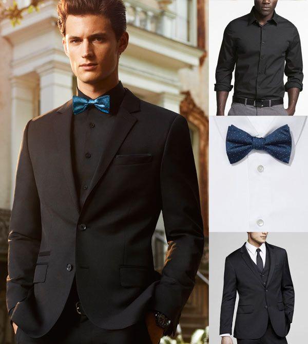 Imagini pentru black suit blue tie