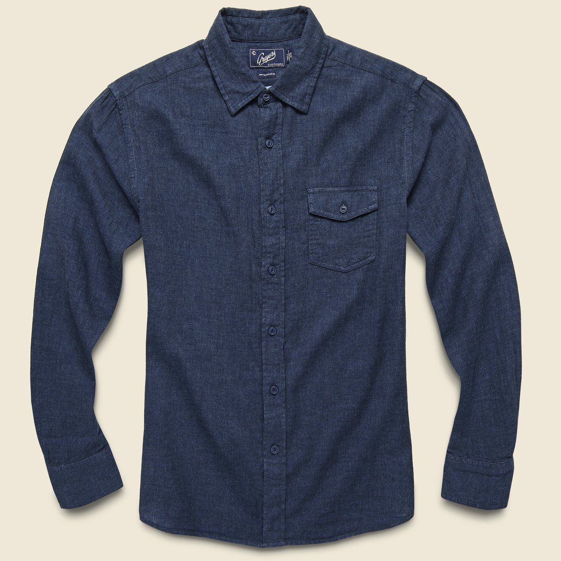 Grayers Hattox Double Cloth Shirt - Navy Heather