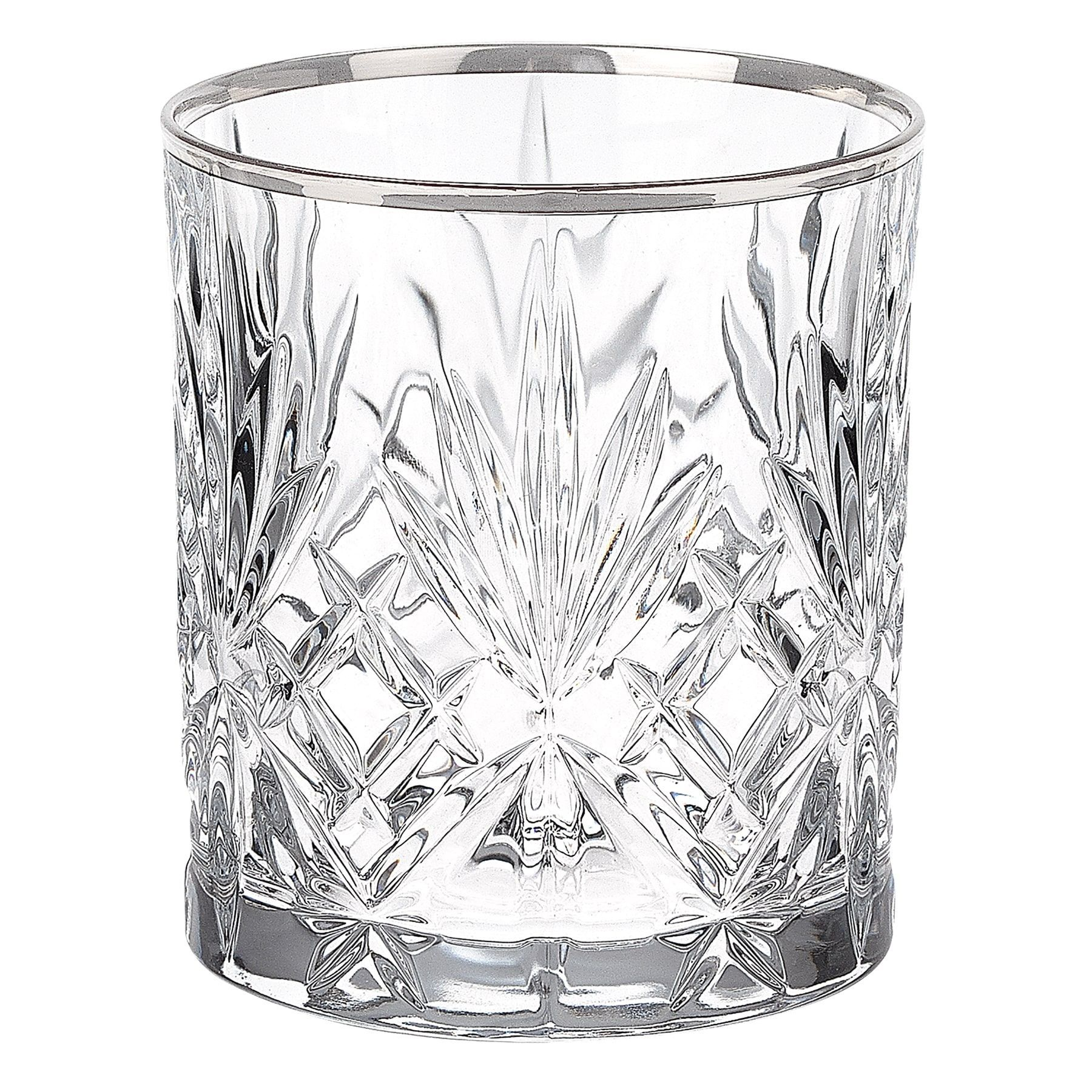 Lorren Home Trends Reagan Collection Double Old Fashion Beverage Glasses