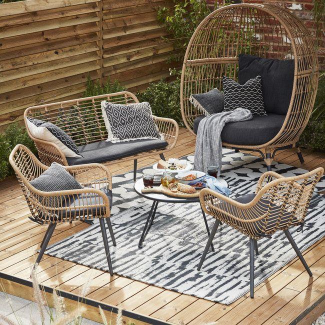 Fotel Blooma Apolima Technorattan Weatherproof Garden Furniture Metal Garden Furniture B Q Garden Furniture