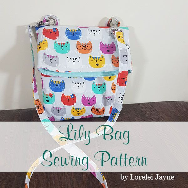 Lily fold over bag, crossbody bag PDF sewing Pattern - bag sewing ...