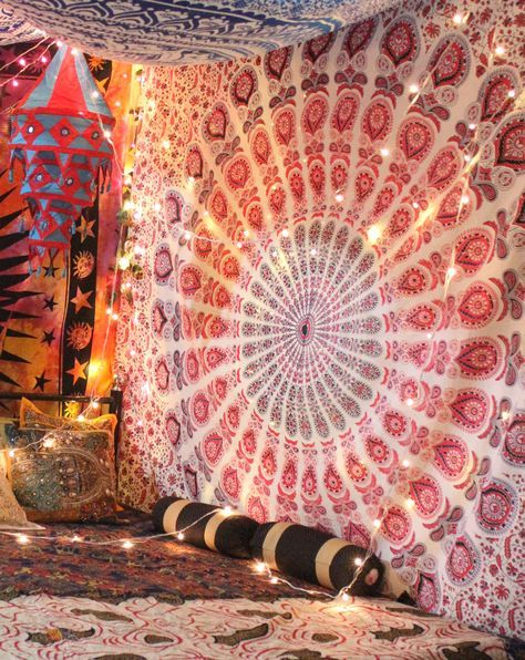 DIY : How to make tapestry canopy? | Canopy, Tapestry and House