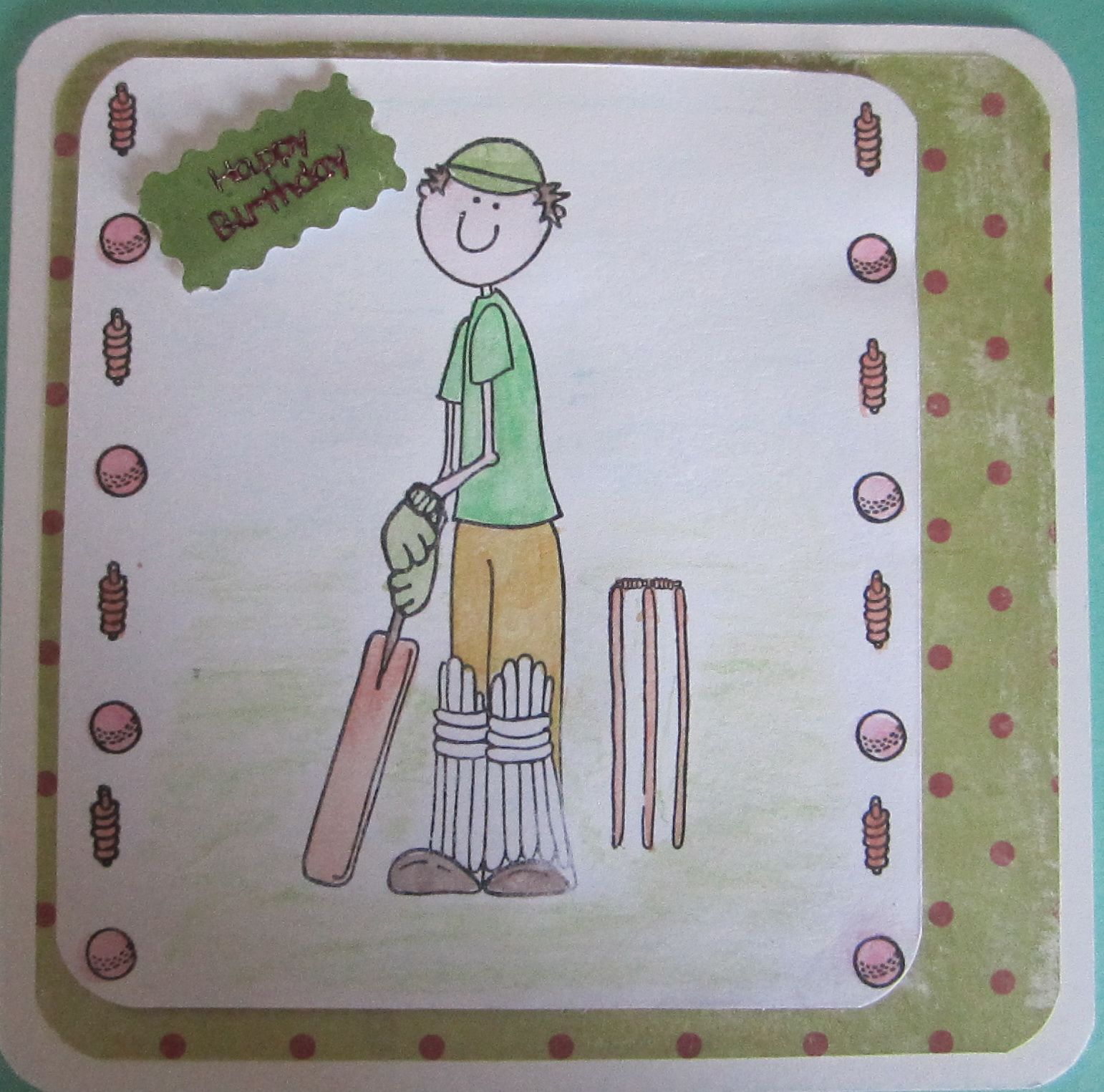 Male Cricket Card Kids Cards Birthday Cards For Men Birthday Cards