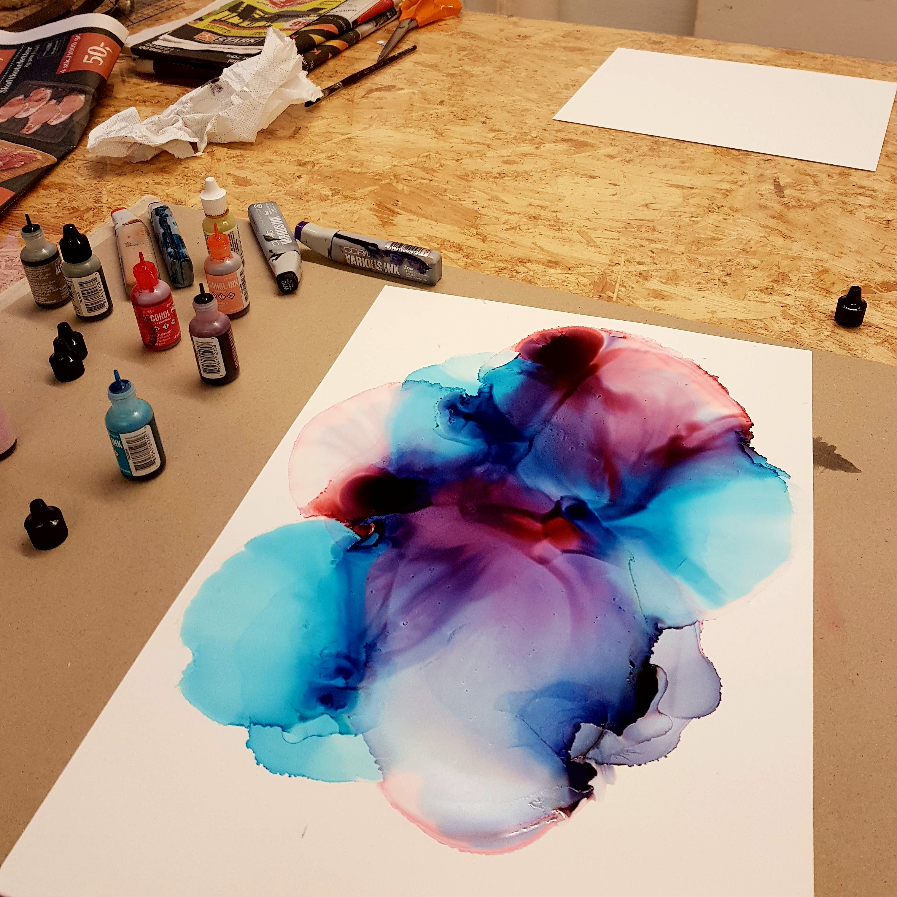 Alcohol Ink On Yupo Paper Created By Danish Alcohol Ink Artist