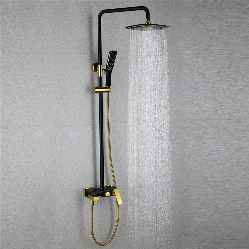 European Modern Copper Shower Sets Hot And Cold Shower Faucet Black Gold In 2020 Kleine Badkamer Kleine Keuken Badkamer