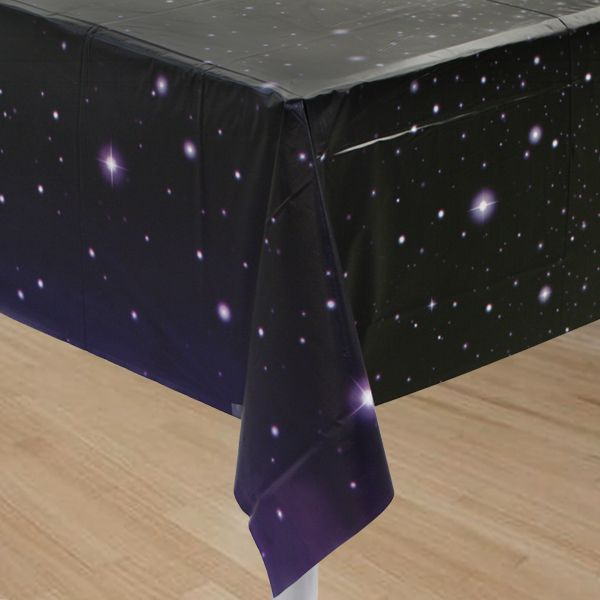 I Explore Ang Ideas, Galaxies, At Higit Pa! Space Party Table Cover