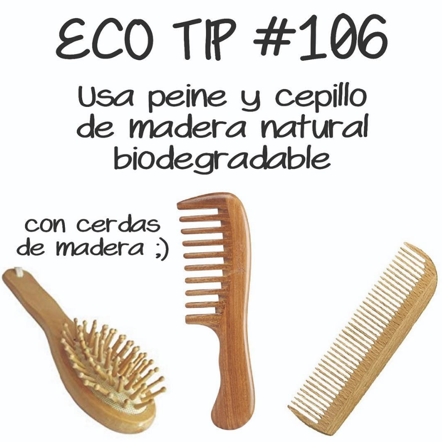 Usa Peine Y Cepillo De Madera Natural Biodegradable Salud Y Medio Ambiente Vida Sustentable Hábitos Sostenibles