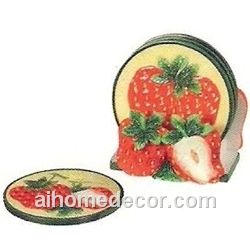 Strawberry coasters