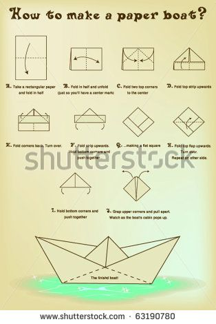 How To Make A Paper Boat For Landon