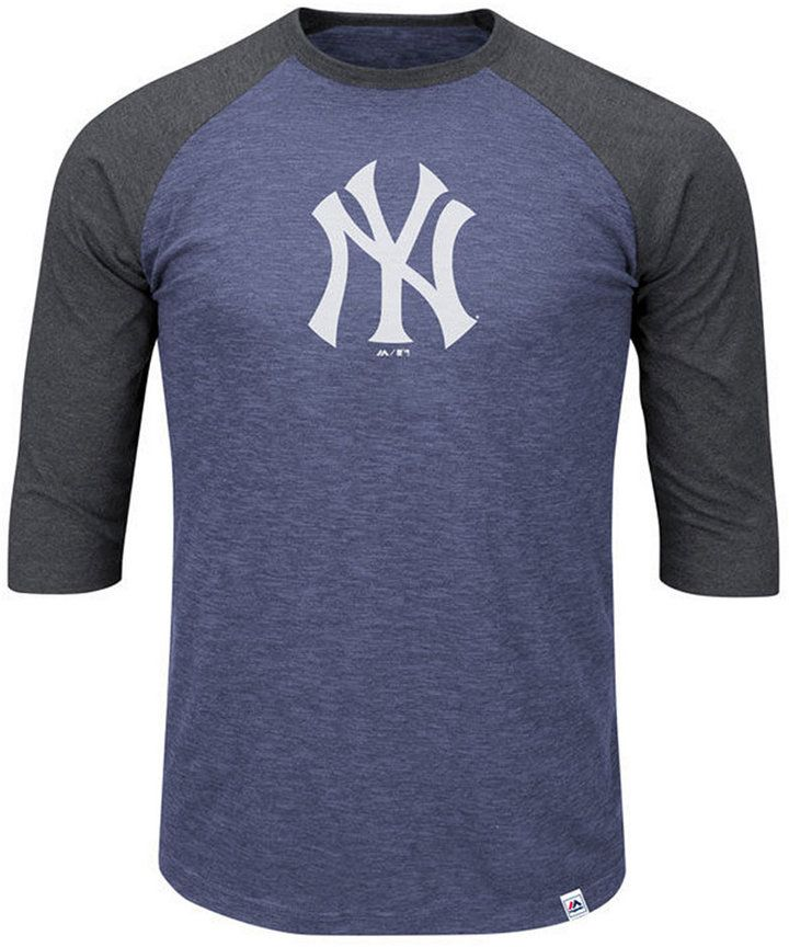 Majestic Men s Big   Tall New York Yankees Grueling Raglan T-Shirt ... 3ad079b07ff