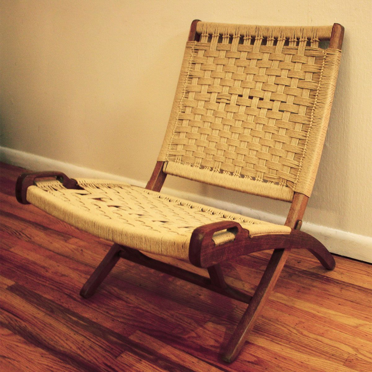 Mid Century Rope Chair By Picked Vintage My Parents Had