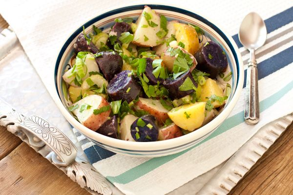 Red White And Blue Potato Salad With Peppery Radish