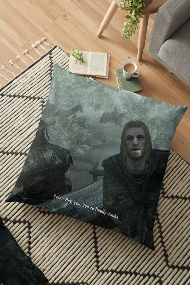 Skyrim Pillows | TeePublic