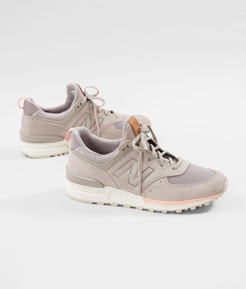5042041fcd5e1 New Balance 574 Sport Shoe - Women s Shoes in Flat White Himalayan Pink