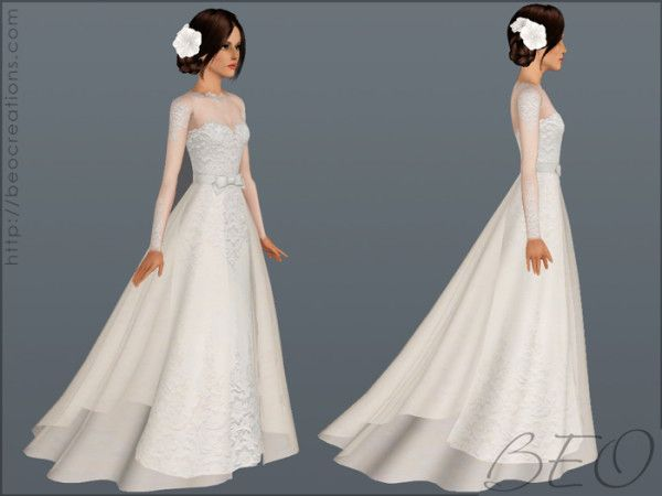Wedding Dress Donation.Wedding Dress 28 By Beo Donation Sims Sims 4 Dresses Sims 3