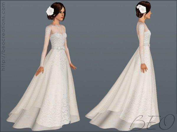 Wedding Dress 28 By BEO Donation Sims Pinterest Sims Wedding Dress An