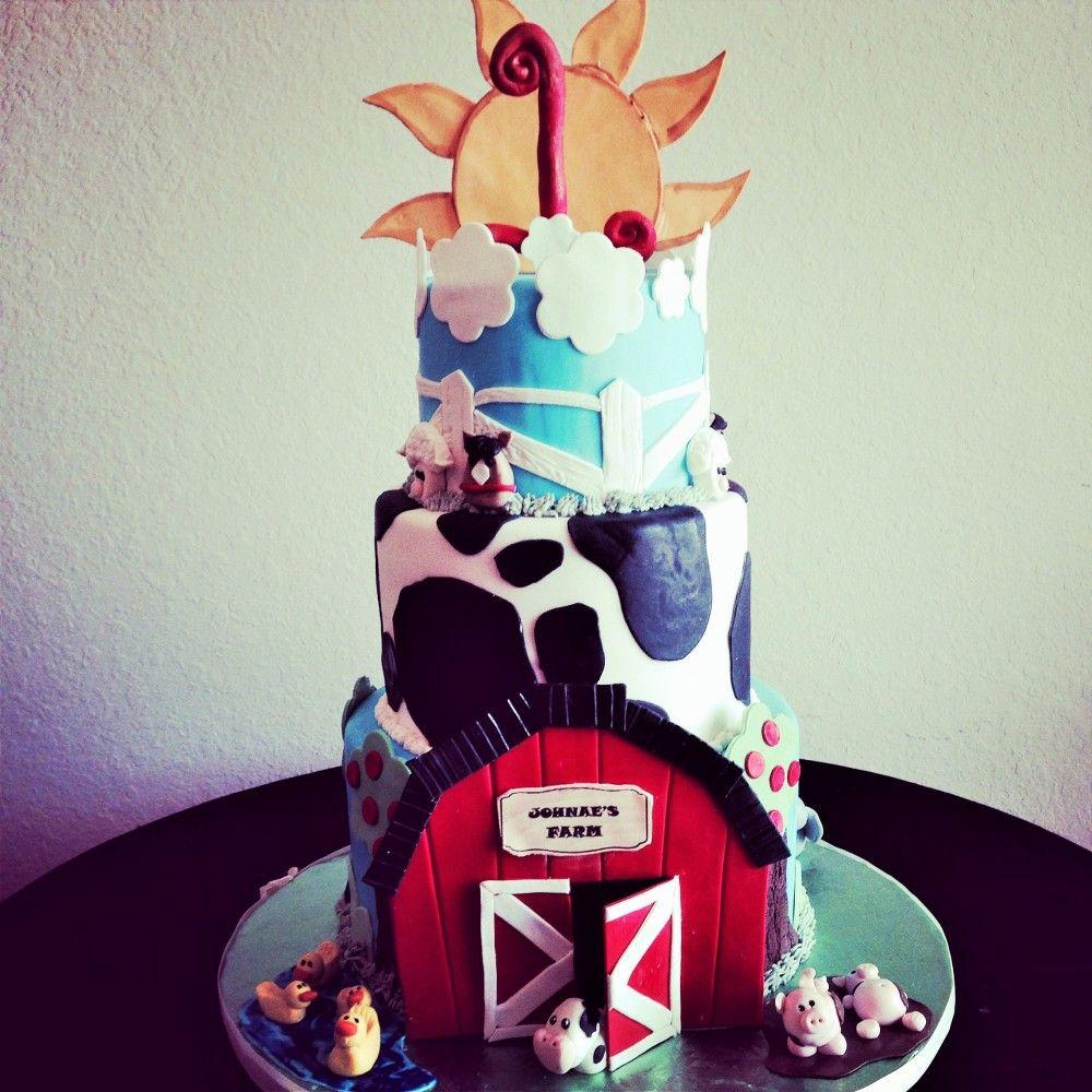 Barn Yard Birthday Cake by Sweeter Than The Rest Custom Cake
