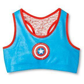 5e78bd345ab3e Captain America Girls  Racer Sports Bra - Multicolored