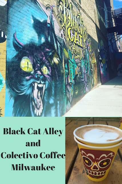 Colectivo Coffee and Black Cat Alley in Milwaukee Black
