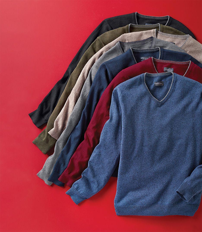Logan Hill™ Men's Cashmilon Vneck Sweater Vneck sweater