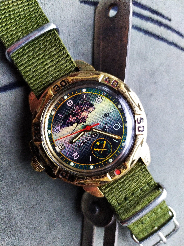 Reservedcollectible watch vostok komandirskie hologram