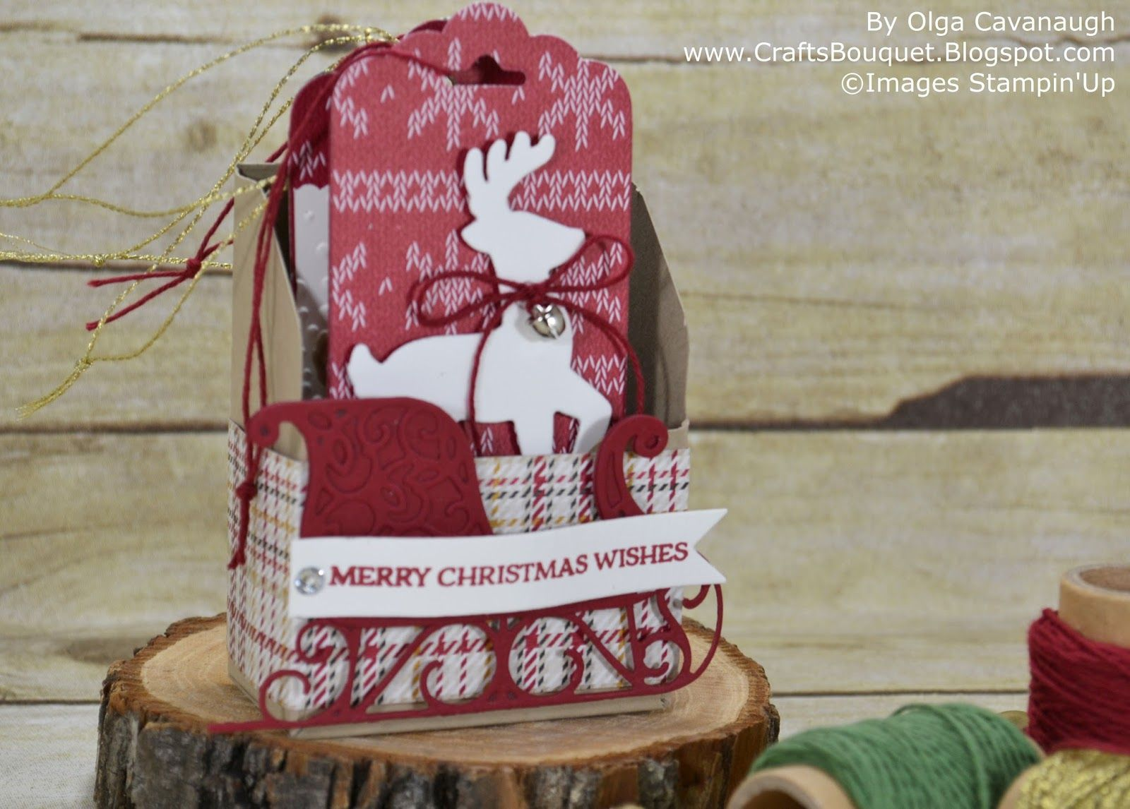 Stampin Up Christmas Craft Fair Ideas Part - 36: Crafts Bouquet: Stampinu0027Up Santau0027s Sleigh - Handmade For The Holidays